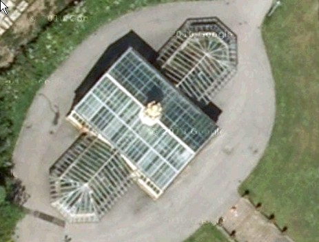 An arial view of the conservatory in 2012